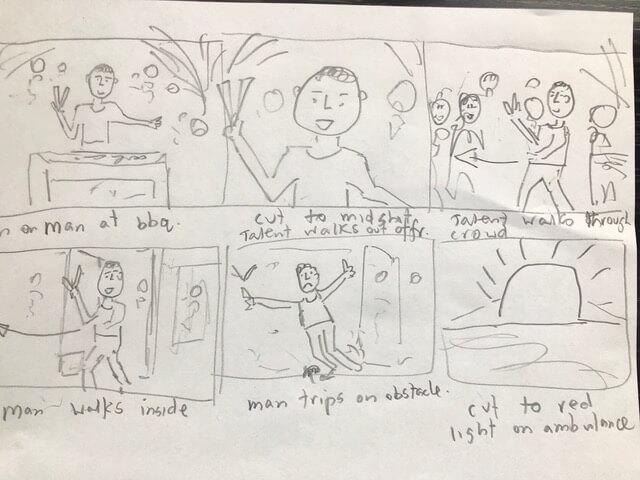 ross tinney's hand drawn choosy storyboard